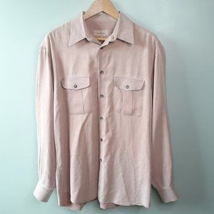 {Ermenegildo Zegna} Pink Button Down Shirt Size L